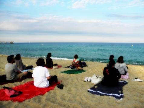 Meditación frente al mar